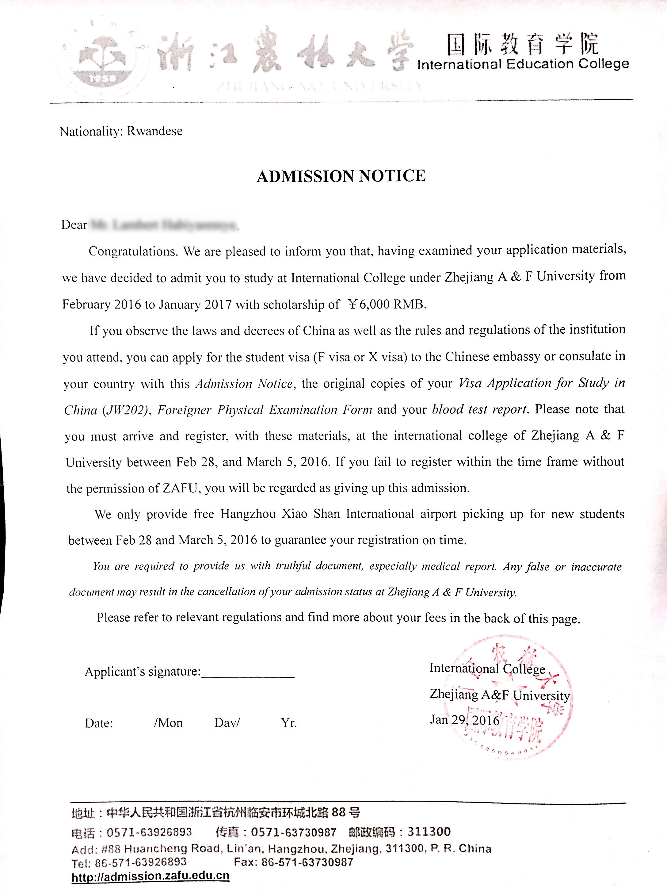 About cucas scholarship application service we have helped many students win the scholarship they want successfully here are some of the scholarship admission lettersclick the picture too zoom in thecheapjerseys Images